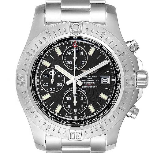 Photo of Breitling Colt Black Dial Stainless Steel Mens Watch A13388 Box Papers