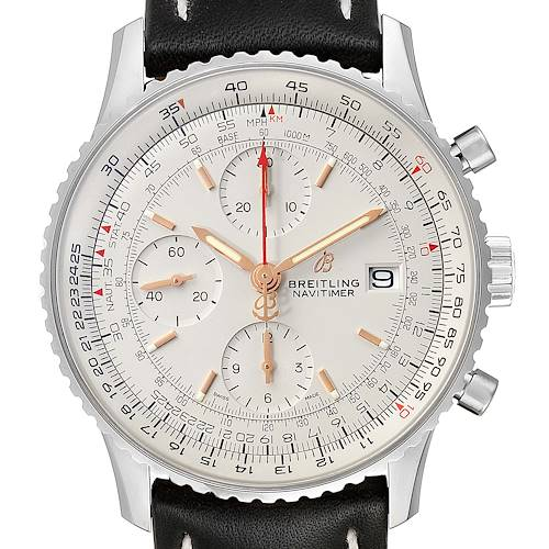 Photo of Breitling Navitimer Heritage White Dial Mens Watch A13324 Box Papers Unworn