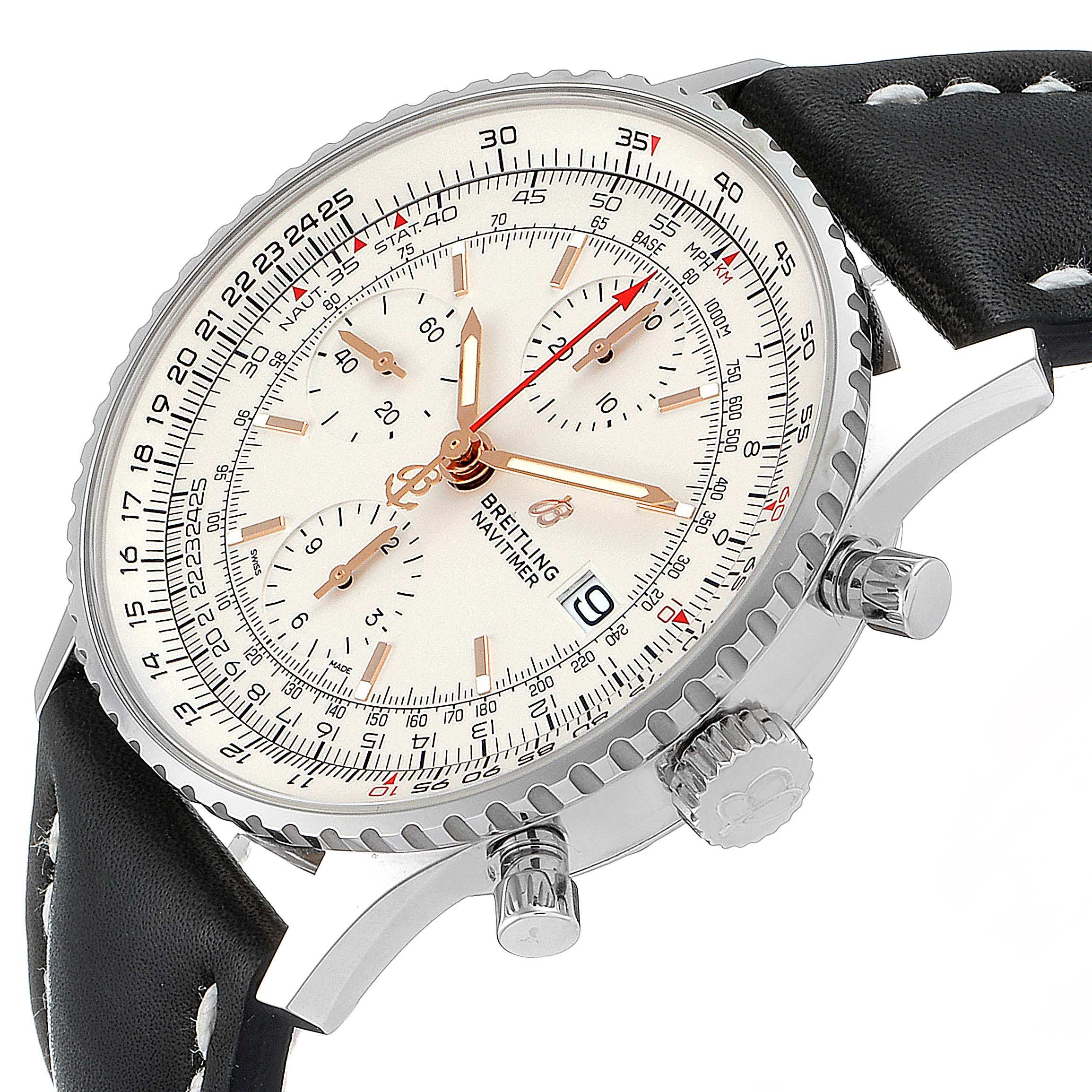 Breitling Navitimer Heritage White Dial Mens Watch A13324 Box Papers Unworn SwissWatchExpo