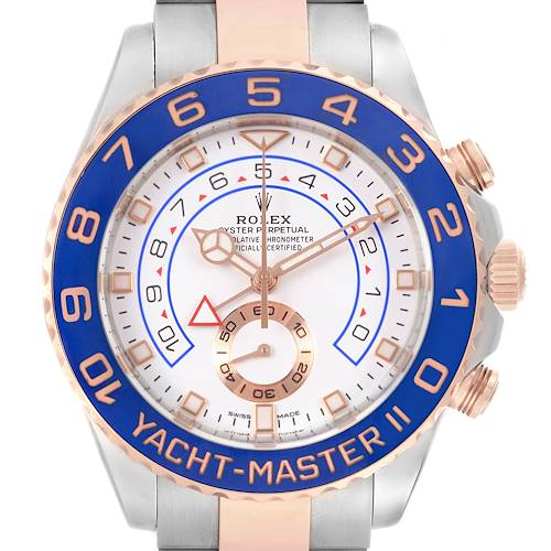Photo of Rolex Yachtmaster II Steel EveRose Gold Mercedes Hands Mens Watch 116681 Unworn