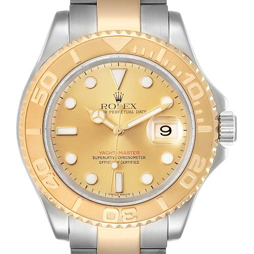 Photo of Rolex Yachtmaster Steel 18K Yellow Gold Mens Watch 16623 Box Papers
