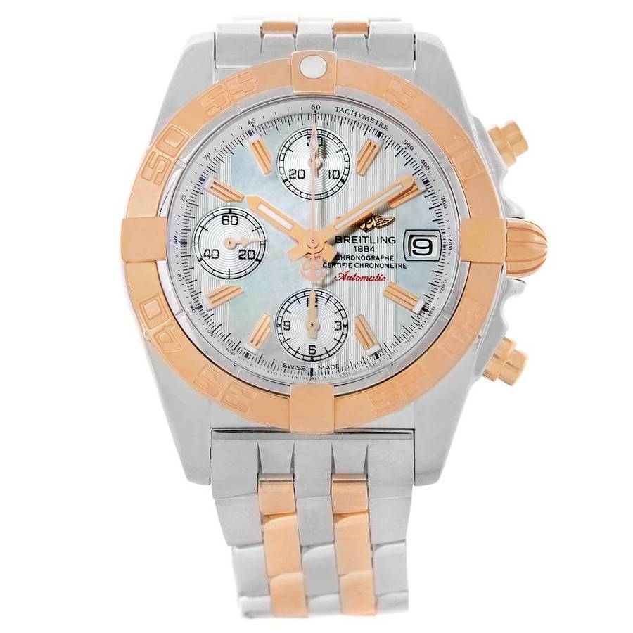 Breitling Chrono Galactic Stainless Steel Rose Gold Watch C13358 ** Partial Payment** SwissWatchExpo