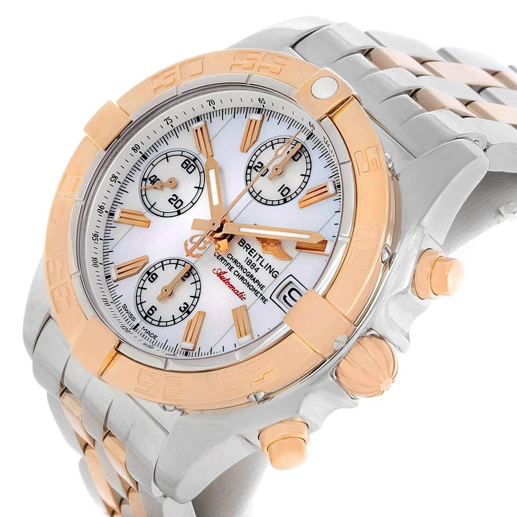 9180A Breitling Chrono Galactic Stainless Steel Rose Gold Watch C13358 ** Partial Payment** SwissWatchExpo