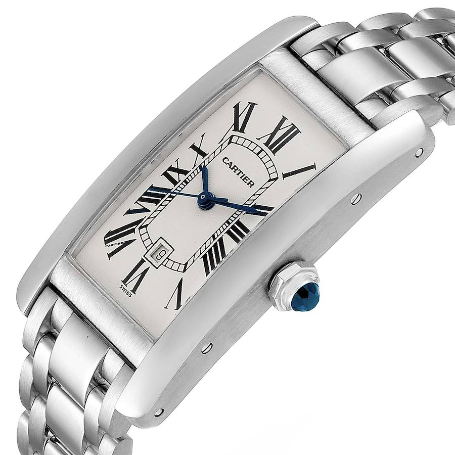 Cartier Tank Americaine Midsize Yellow Gold Automatic Ladies Watch 1726 SwissWatchExpo