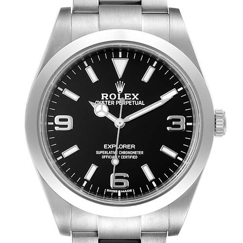Photo of Rolex Explorer I Arabic Numerals Mens Watch 214270 Box
