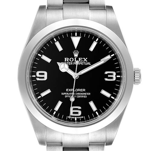 Photo of Rolex Explorer I Arabic Numerals Mens Watch 214270 Box Card