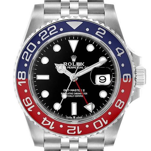 Photo of Rolex GMT Master II Pepsi Bezel Jubilee Steel Watch 126710 Box Papers