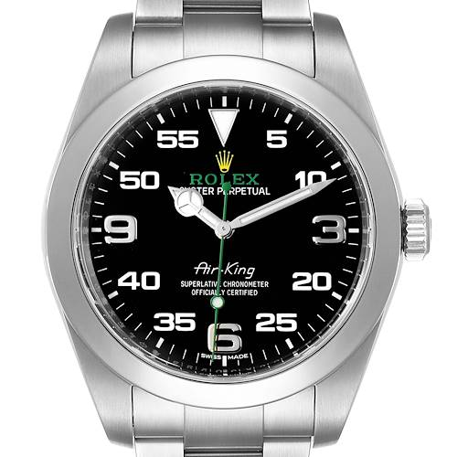 Photo of Rolex Oyster Perpetual Air King Black Dial Steel Watch 116900 Box