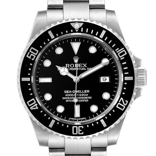 Photo of Rolex Seadweller 4000 Automatic Steel Mens Watch 116600 Box Card