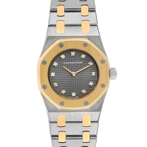Audemars Piguet Royal Oak 26mm Diamond Steel Yellow Gold Ladies Watch