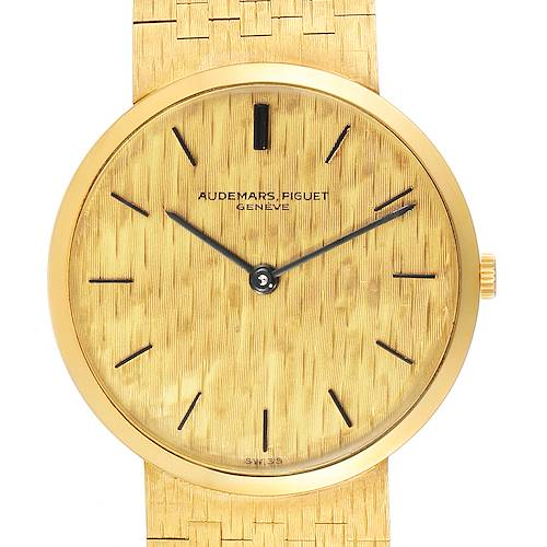 Audemars Piguet Yellow Gold Vintage Mens Watch 3445