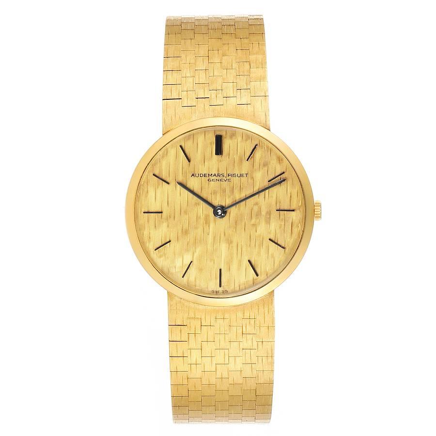 Audemars Piguet Yellow Gold Vintage Mens Watch 3445 SwissWatchExpo