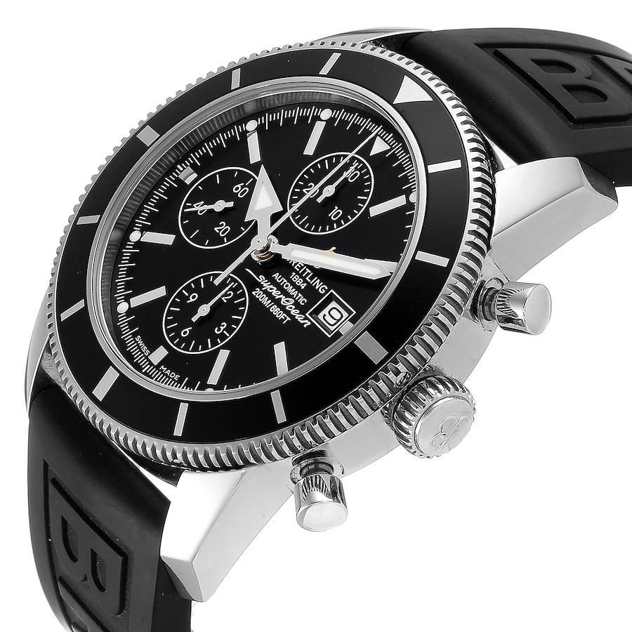 Breitling SuperOcean Heritage Chrono 46 Black Dial Mens Watch A13320 Box Papers SwissWatchExpo