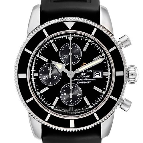 Photo of Breitling SuperOcean Heritage Chrono 46 Black Dial Mens Watch A13320 Box Papers