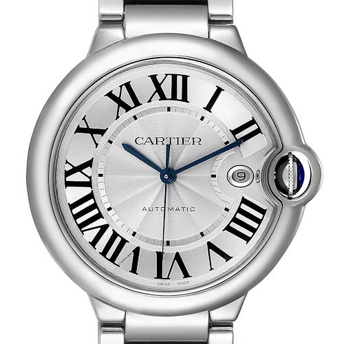 Cartier Ballon Bleu 42 Steel Automatic Mens Watch W69012Z4