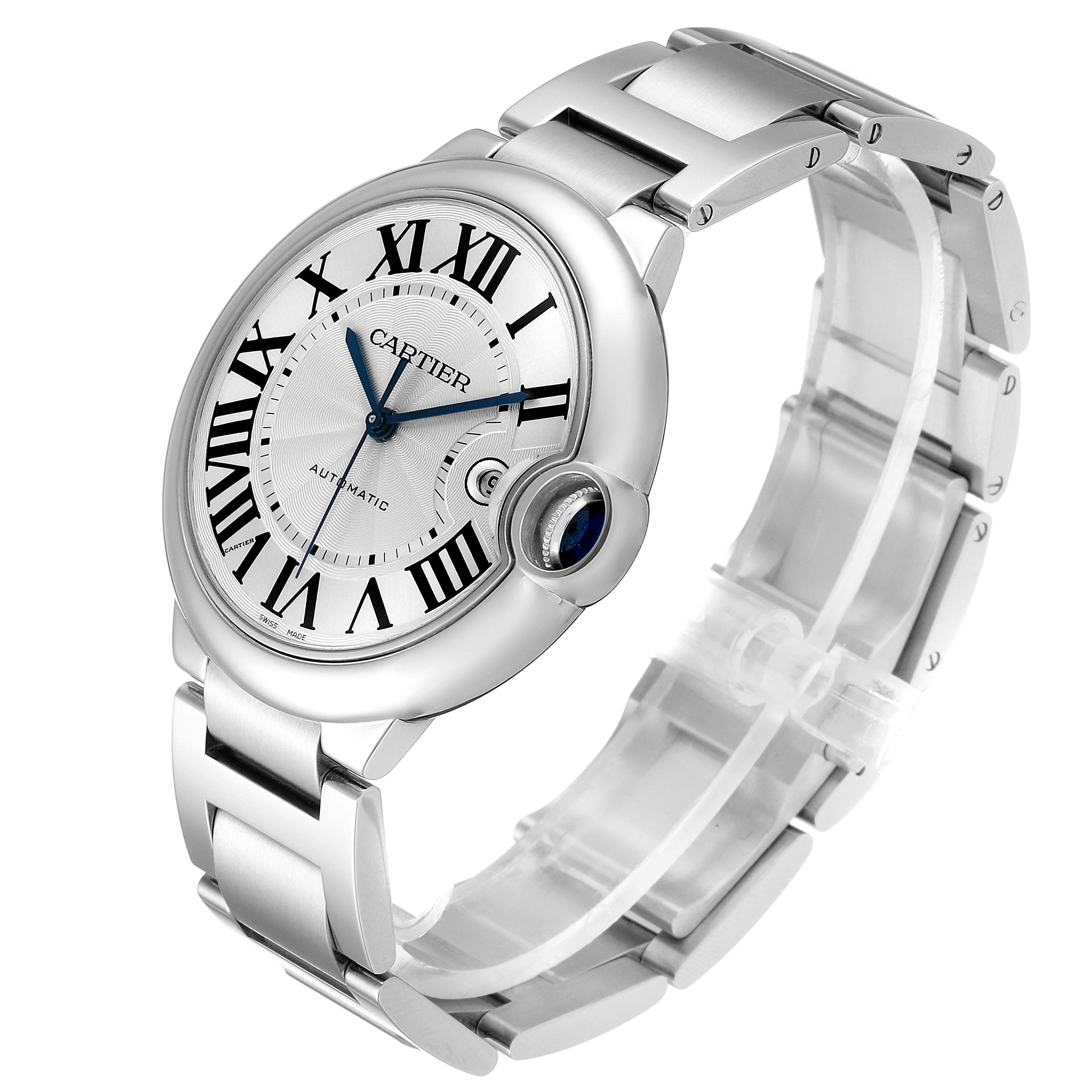 Cartier Ballon Bleu 42 Steel Automatic Mens Watch W69012Z4 SwissWatchExpo