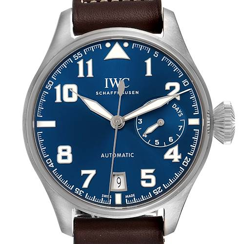 Photo of IWC Pilot Le Petit Prince Big Pilots Blue Dial Mens Watch IW500908 Box Card