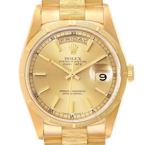 Photo of Rolex President Day-Date 36mm Yellow Gold Mens Watch 18248 Box