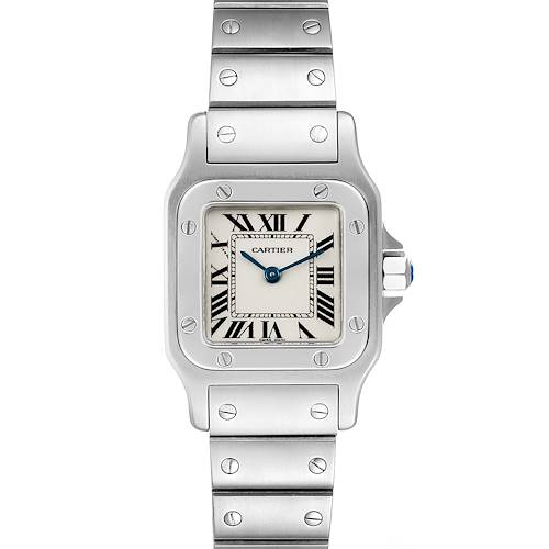 Photo of Cartier Santos Galbee Silver Dial Small Steel Ladies Watch W20056D6 Box
