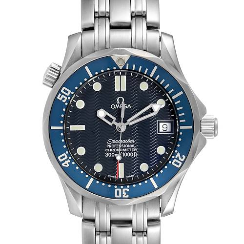 Photo of Omega Seamaster Midsize 36mm Blue Dial Steel Mens Watch 2551.80.00
