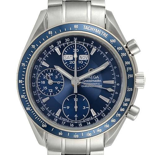 Photo of Omega Speedmaster Day Date Blue Dial Chronograph Watch 3222.80.00