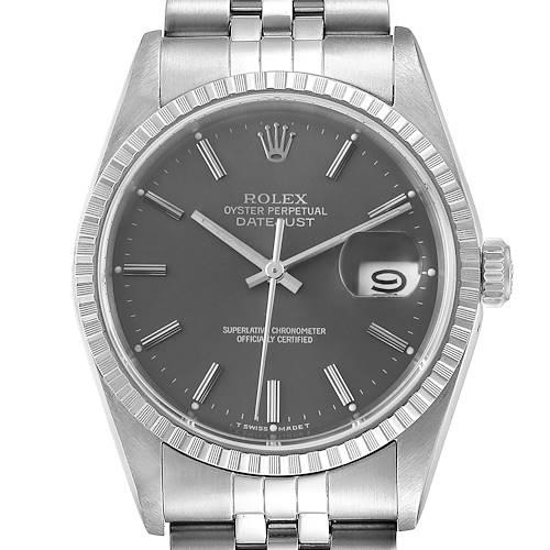 Photo of Rolex Datejust Grey Dial Jubilee Bracelet Steel Mens Watch 16220