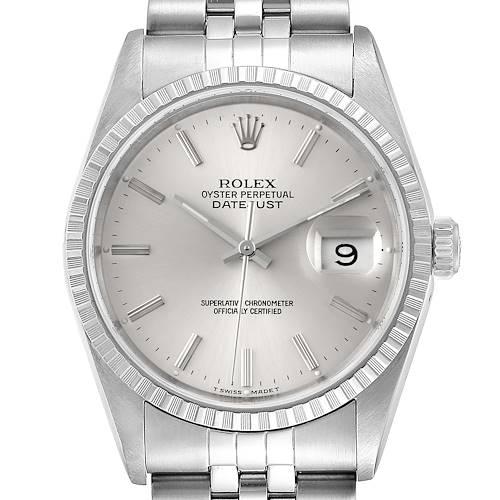 Photo of Rolex Datejust Silver Dial Jubilee Bracelet Steel Mens Watch 16220 Box