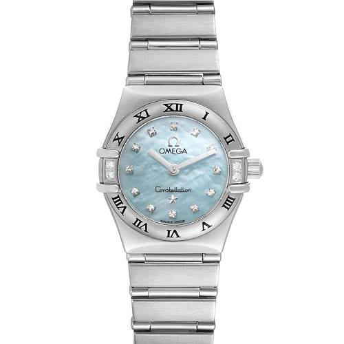 Photo of Omega Constellation Mini Blue MOP Diamonds Ladies Watch 1567.86.00