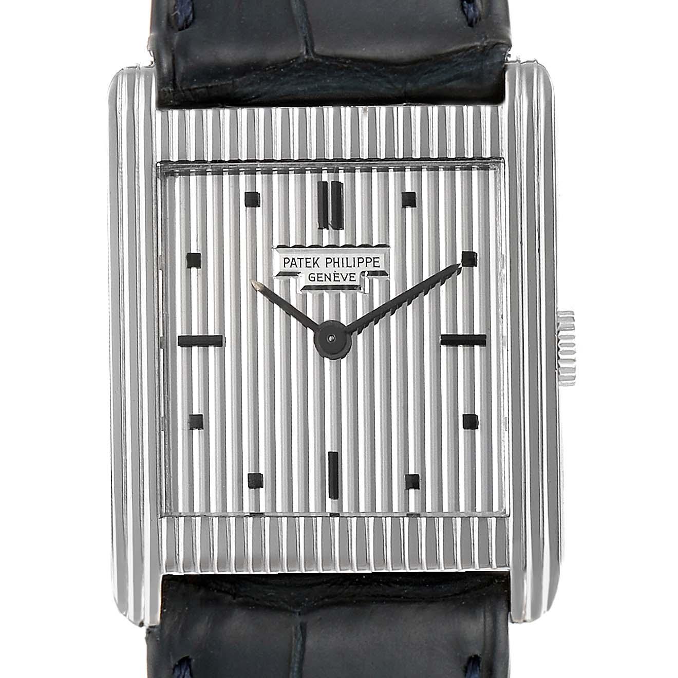 Patek Philippe Gondolo White Gold Silver Dial Vintage Mens Watch 3467 SwissWatchExpo