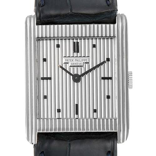 Patek Philippe Gondolo White Gold Silver Dial Vintage Mens Watch 3467