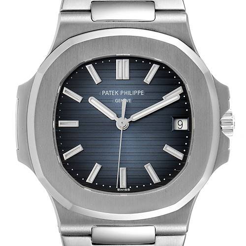 Patek Philippe Nautilus Blue Dial Steel Mens Watch 5711 Box Papers