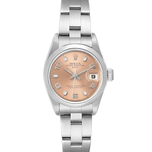 Photo of Rolex Date 26 Salmon Dial Domed Bezel Steel Ladies Watch 79160
