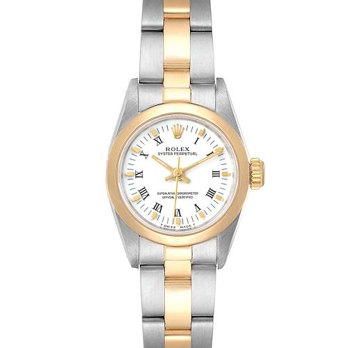 Photo of Rolex Oyster Perpetual NonDate Steel Yellow Gold Ladies Watch 67183