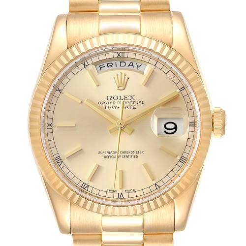 Photo of Rolex President Day Date 36mm Yellow Gold Mens Watch 118238 Box Papers