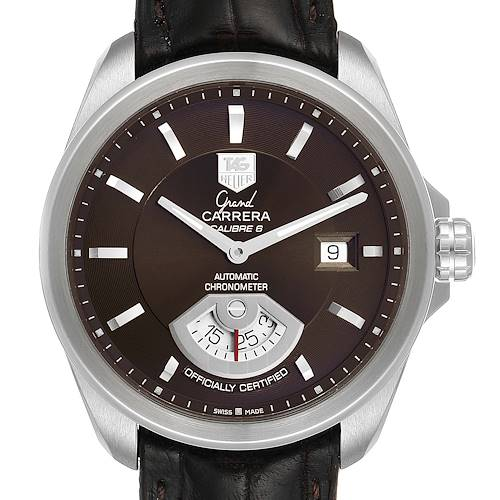 Photo of Tag Heuer Carrera Brown Dial Automatic Mens Watch WAV511C Box Card