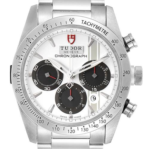 Photo of Tudor Fastrider White Dial Chronograph Steel Mens Watch 42000