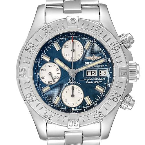 Photo of Breitling Aeromarine Superocean Blue Dial Mens Watch A13340 Box