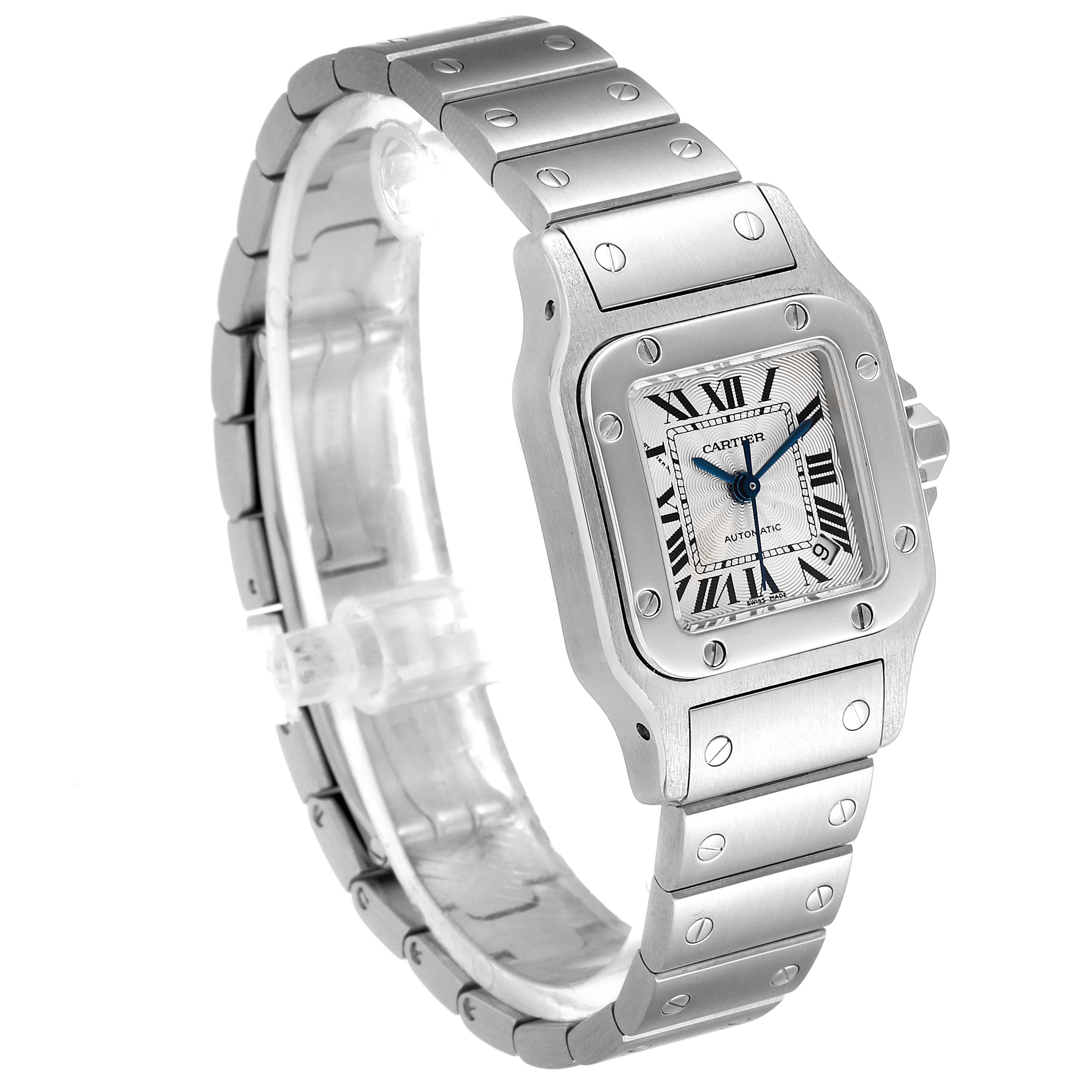 Cartier Santos Galbee Ladies Automatic Steel Ladies Watch W20044D6 Papers SwissWatchExpo