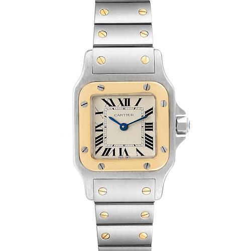 Photo of Cartier Santos Galbee Steel Yellow Gold Ladies Watch W20012C4