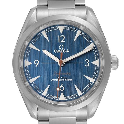 Photo of Omega Railmaster Master Chronometer Blue Dial Watch 220.10.40.20.03.001 Box Papers
