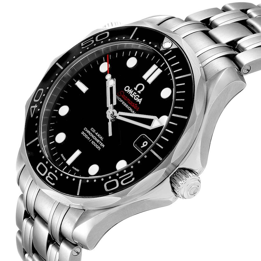 Omega Seamaster 41 Co-Axial Black Dial Mens Watch 212.30.41.20.01.003 Box Card SwissWatchExpo