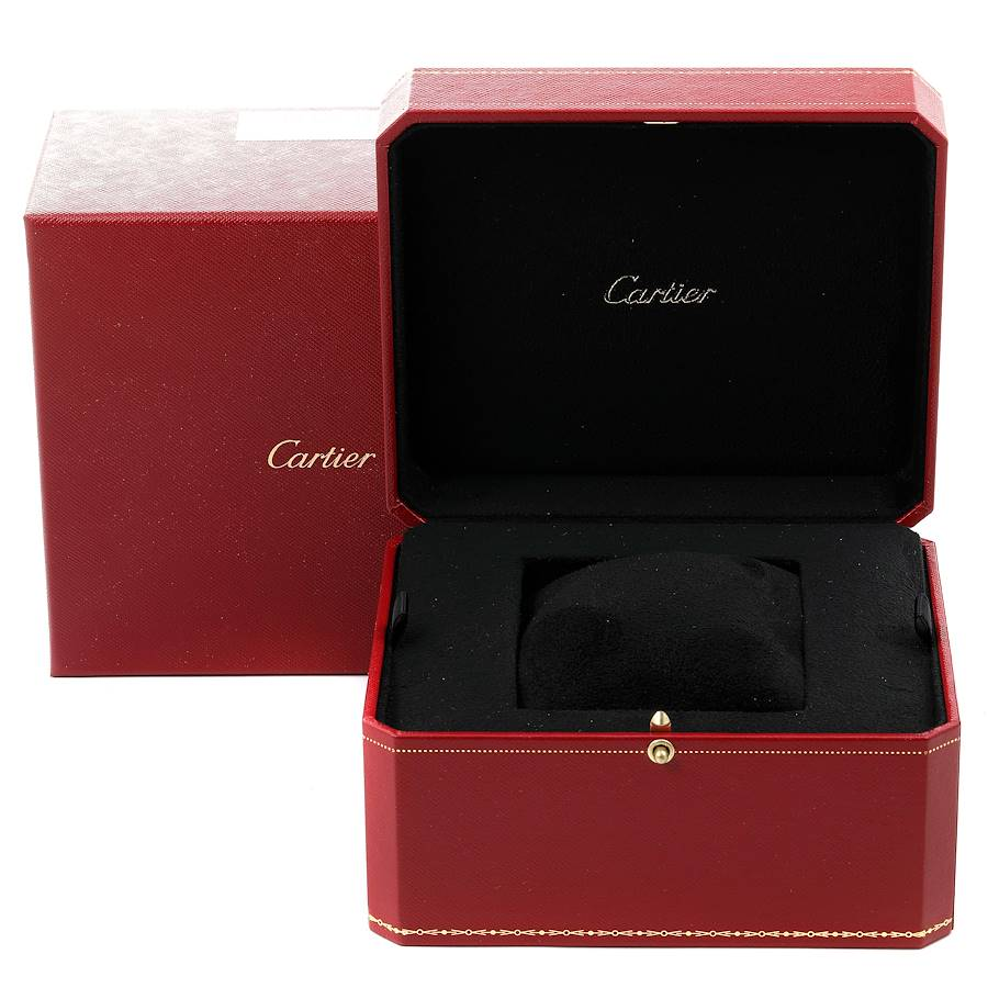 Cartier Tortue XL Silver Flinque Dial 18K Rose Gold Mens Watch W1556234 SwissWatchExpo