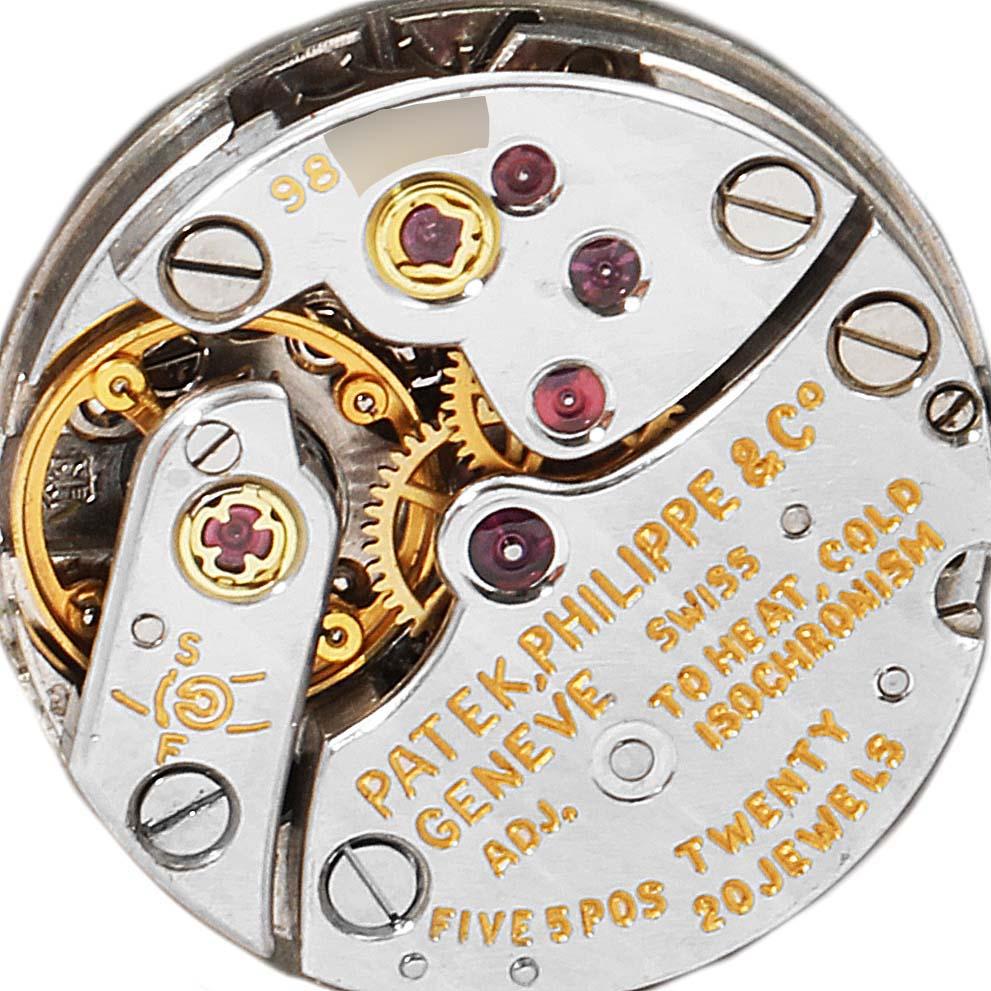 Patek Philippe 18k White Gold Diamond Bezel Cocktail Ladies Watch 3353 SwissWatchExpo