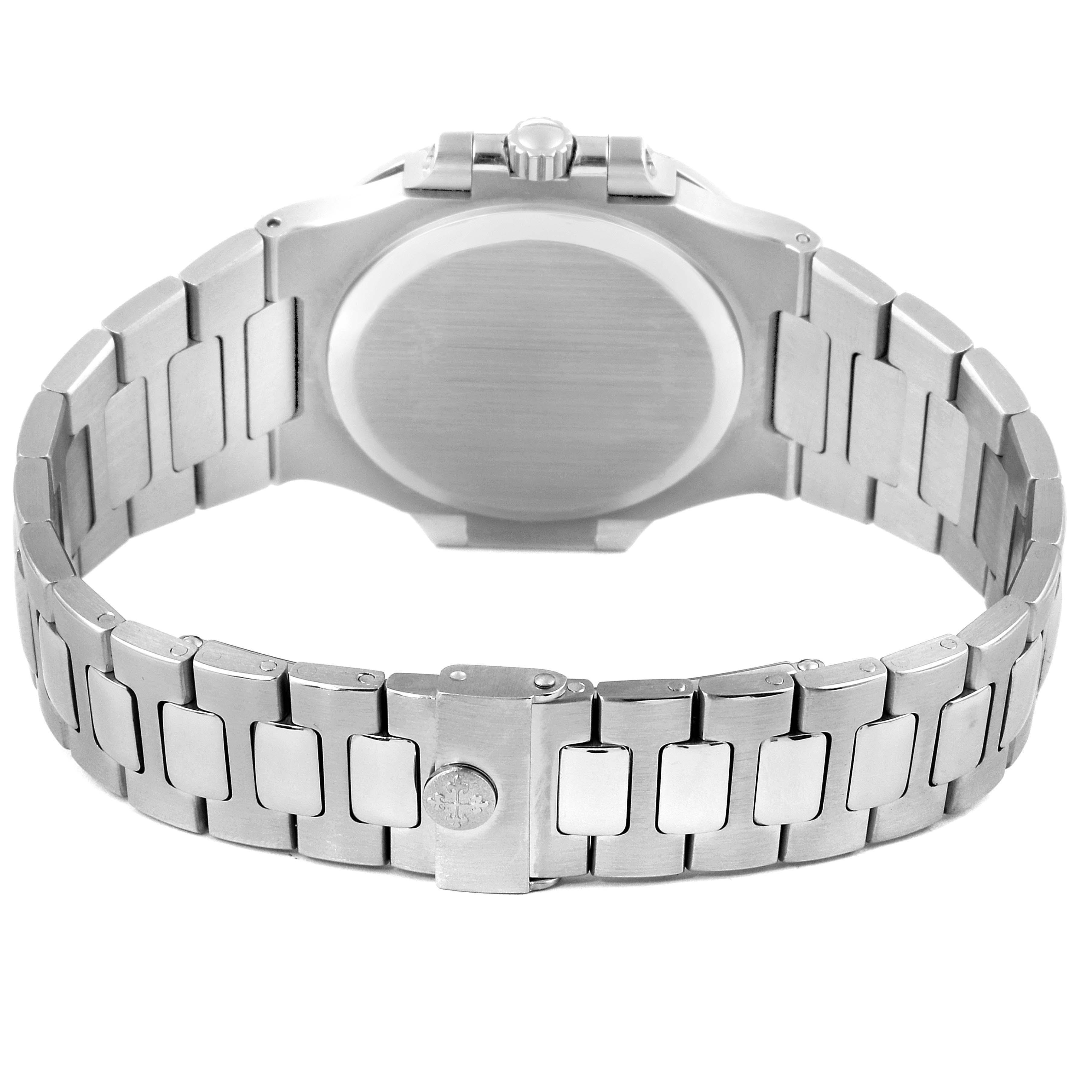 Patek Philippe Nautilus Black Dial Automatic Steel Mens Watch 3800 Papers SwissWatchExpo