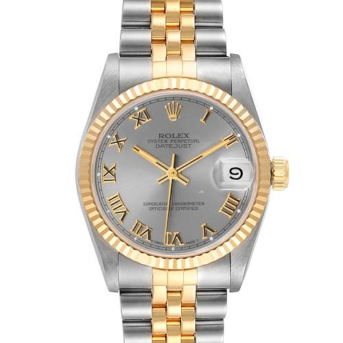 Photo of Rolex Datejust Midsize 31 Slate Dial Steel Yellow Gold Ladies Watch 68273