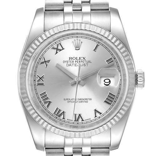 Photo of Rolex Datejust Steel White Gold Jubilee Bracelet Mens Watch 116234