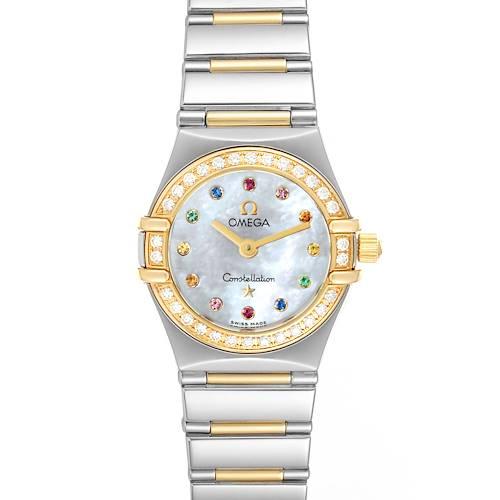 Photo of Omega Constellation Iris Steel Yellow Gold Multi Stone Watch 1365.79.00