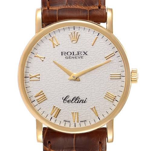 Rolex Cellini Classic Yellow Gold Anniversary Dial Mens Watch 5115