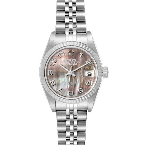 Photo of Rolex Datejust 26 Steel White Gold Mother of Pearl Ladies Watch 179174 Box