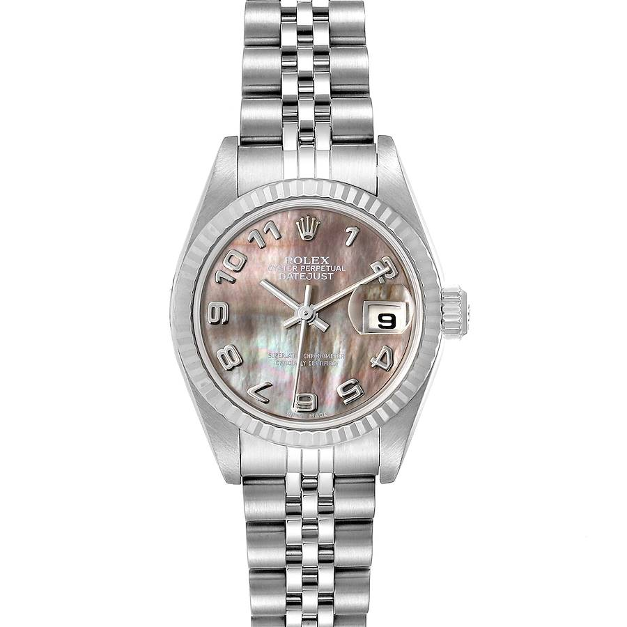 Rolex Datejust 26 Steel White Gold Mother of Pearl Ladies Watch 79174 Box SwissWatchExpo